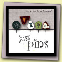 Frosty Just Pins JP112 set 5 for pincushions JABC Just Another Button Co - $13.05