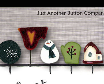 Frosty Just Pins JP112 set 5 for pincushions JABC Just Another Button Co