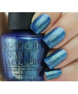 OPI Ford Mustang THE SKY'S MY LIMIT Iridescent BLUE Nail Polish Lacquer ... - $19.79