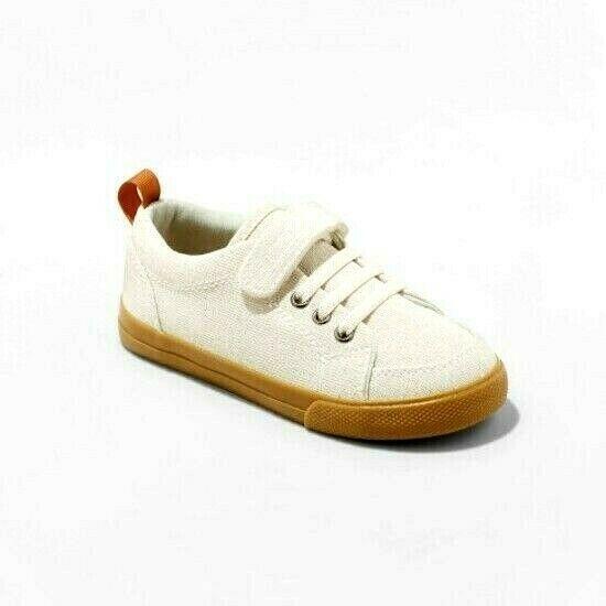 Cat & Jack Desert Tan Jahmir Canvas Slip On Hook & Loop Closure Shoes 6 Toddler