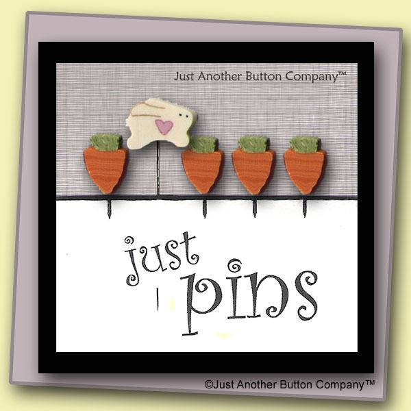 Primary image for Carrot Patch Just Pins JP114 set 5 for pincushions JABC Just Another Button Co