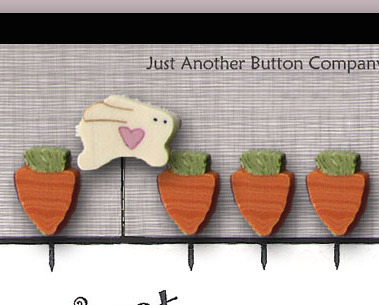 Carrot Patch Just Pins JP114 set 5 for pincushions JABC Just Another Button Co