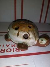 Ceramic Turtle Decoration- Earthtone Desk or Home decoration ~ Pencil Ho... - €7,91 EUR