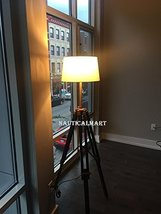 Nauticalmart Tripod Floor Lamp With Cherry Finish Wooden Tripod Stand For Living - $175.00