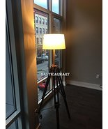 NAUTICALMART TRIPOD FLOOR LAMP WITH CHERRY FINISH WOODEN TRIPOD STAND FO... - $175.00