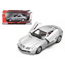 Mercedes Mclaren SLR Silver 1/24 Diecast Model Car by Motormax 73306s - $29.91