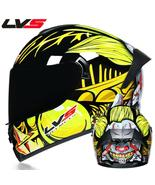 Full Face Racing Helmets Winter Warm Double Visor Motorcycle Helmet Moto... - $69.99+