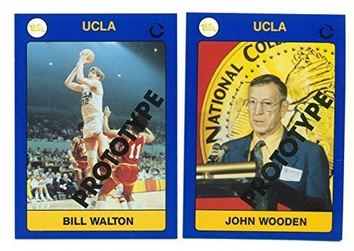 1991 Collegiate Collection John Wooden & Bill Walton UCLA Rare 2 Card Prototype
