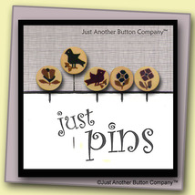 Sampler Stitches Just Pins JP126 set 5 for pincushions JABC Just Another Button - $13.05