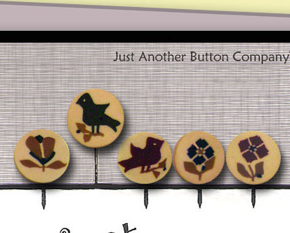 Sampler Stitches Just Pins JP126 set 5 for pincushions JABC Just Another Button