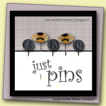 Spelling Bee Just Pins JP128 set 5 for pincushions JABC Just Another Button Co - $13.05