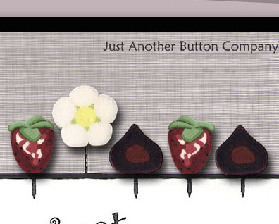 Sweet Tooth Just Pins JP129 set 5 for pincushions JABC Just Another Button Co