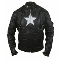 Marvel's Chris Evans Captain America Costume Leather Jacket - $69.29+