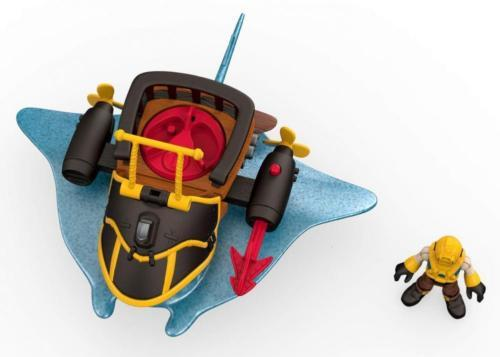 Fisher-Price Imaginext Stingray Pirate Vehicle with Captain Nemo