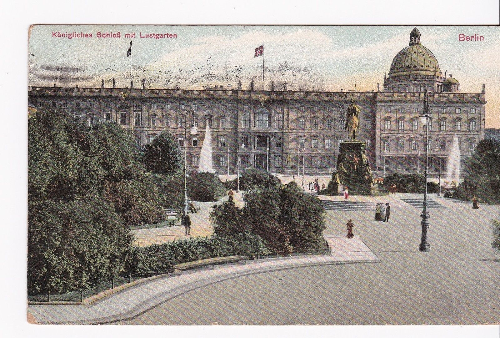 Primary image for KONIGLICHESBERLIN VINTAGE POSTCARD BURLINGTON, VT 12/26/1908 FLAG CANCEL