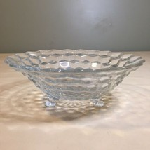 Vintage Fostoria American Fruit Salad Serving Bowl 3 Footed Clear Glass ... - $29.45