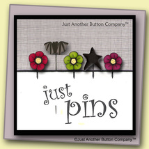 Goblin Wishes Just Pins JP133 set 5 for pincushions JABC Just Another Bu... - $13.05