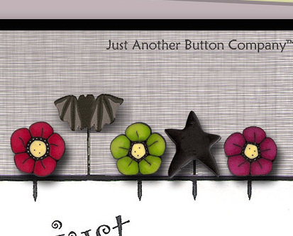 Goblin Wishes Just Pins JP133 set 5 for pincushions JABC Just Another Button Co