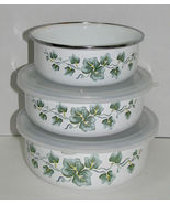 Corning Callaway Coordinates Set of 3 Metal Nesting Bowls, 2 Lids - $19.99