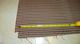 Red Green Blue Plaid Print Upholstery Fabric 1 Yard  F1090 - $29.95