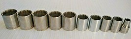 "KD Tools 1/2"" Drive Standard 12 Point SAE Socket Set Various Lot of 10 - $27.93"