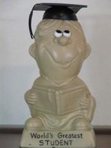 Russ Berrie Silliscupt Statue Vintage World's Greatest Student Graduation - $12.99