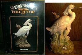 Ezra Brooks Snowy Egret Porcelain Decanter In Box Empty - $80.00