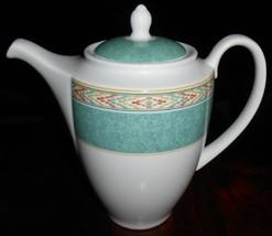 1995 Wedgwood Home AZTEC PATTERN Coffee Pot FINE PORCELAIN - $10.29