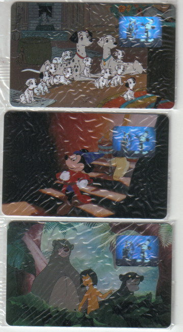 WDCC movie 3 Phone Cards Sorcerer Mickey Free Ship USA