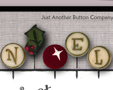 N Is For Noel Just Pins JP138 set 5 for pincushions JABC Just Another Button Co