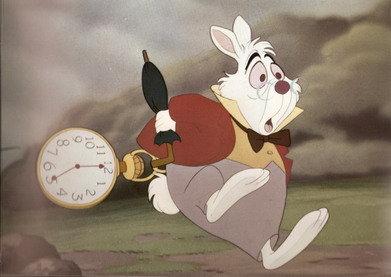 Disney Alice In Wonderland White Rabbit Free Ship USA