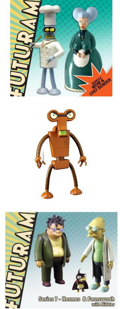 Futurama Series 7 & 8 Roberto Build a Bot complete set