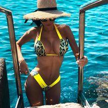 Sexy Women Print Bikini Set PushUp Pad Swimwear Swimsuit Ethnic Wind Color image 2