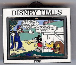 Disney Times Mickey Mouse Sunday Comic #9 Pin/pins - $27.39