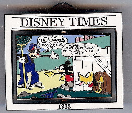Disney Times Mickey Mouse Sunday Comic #9 Pin/pins