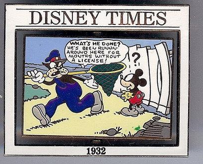 Disney Times Mickey Mouse Sunday Comic #10 Pin/pins