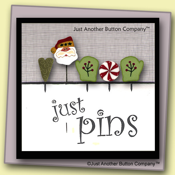 Primary image for Warm Mittens Just Pins JP142 set 5 for pincushions JABC Just Another Button Co
