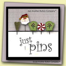 Warm Mittens Just Pins JP142 set 5 for pincushions JABC Just Another Button Co - $13.95