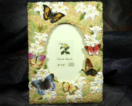 Frame lilly butterfly 4x6