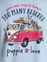 Puppie Love Rescue Dog Adult Unisex Short Sleeve Graphic T-Shirt, Tour Bus Pup image 2