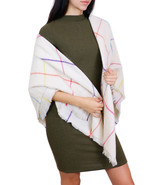 7 Seas Republic Women's Colorful Cream Checkered Scarf - $21.99