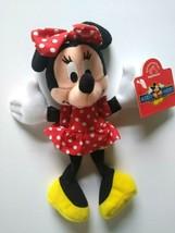 Disney Minnie Mouse Bean Bag Plush Figure Tag & Hanger 1998 Vintage Applause NOS - $18.36