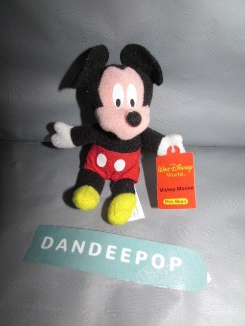 """Walt Disney Cartoon Character Mickey Mouse 12/"""" Collectible Plush Stuffed Toy"""