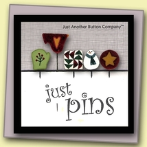 Pine Tree Just Pins JP202 set 5 for pincushions JABC Just Another Button Co - $13.05