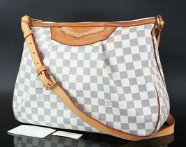 Authentic LOUIS VUITTON Siracusa MM Damier Azur Shoulder Bag Purse #34646 - $689.00