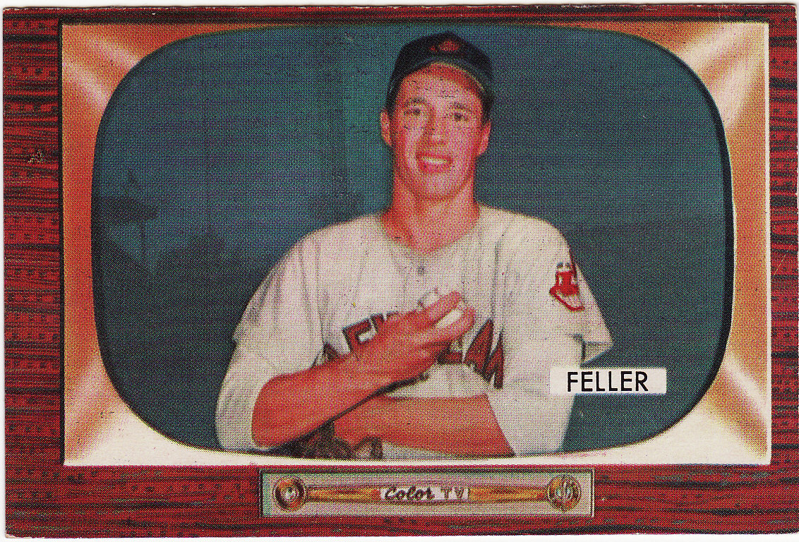 Primary image for Bob Feller 1955 Bowman #134 Baseball Card EX+