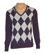 Tommy Hilfiger Women's Argyle Long Sleeve Pullover Sweater Size M Purple - $12.99