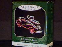 Auburn Kiddie 1937 Car Hallmark Retired Ornament Men Car Sport Mint 1st series