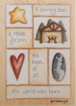 Stamps Happen Wood-Mounted Rubber Stamp ~ A Shining Star Christmas Nativity - $17.77