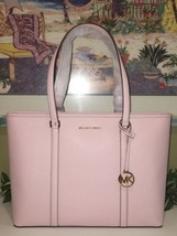 MICHAEL KORS SADY LARGE MULTIFUNCTIONAL TOTE BAG BLOSSOM PINK LEATHER $428 - $98.99